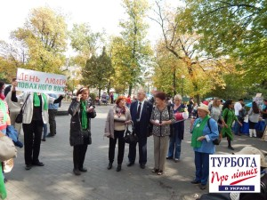 """Акция """"Возраст требует"""" в Киеве"""
